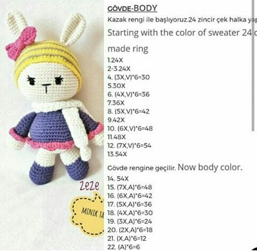 Ayı Teddy Yapımı Amigurumi - #1 (Crochet Amigurumi Teddy Bear ...   1061x1080